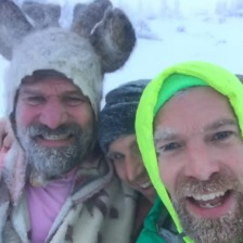 360 VR project with Wim Hof (in shorts) on a mountain in Poland