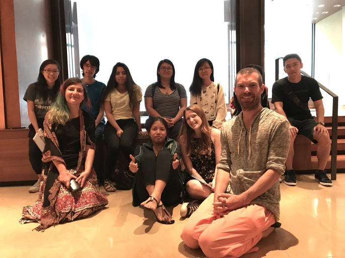 Breathwork and meditation class at the Rubin Museum by Hannes Bend