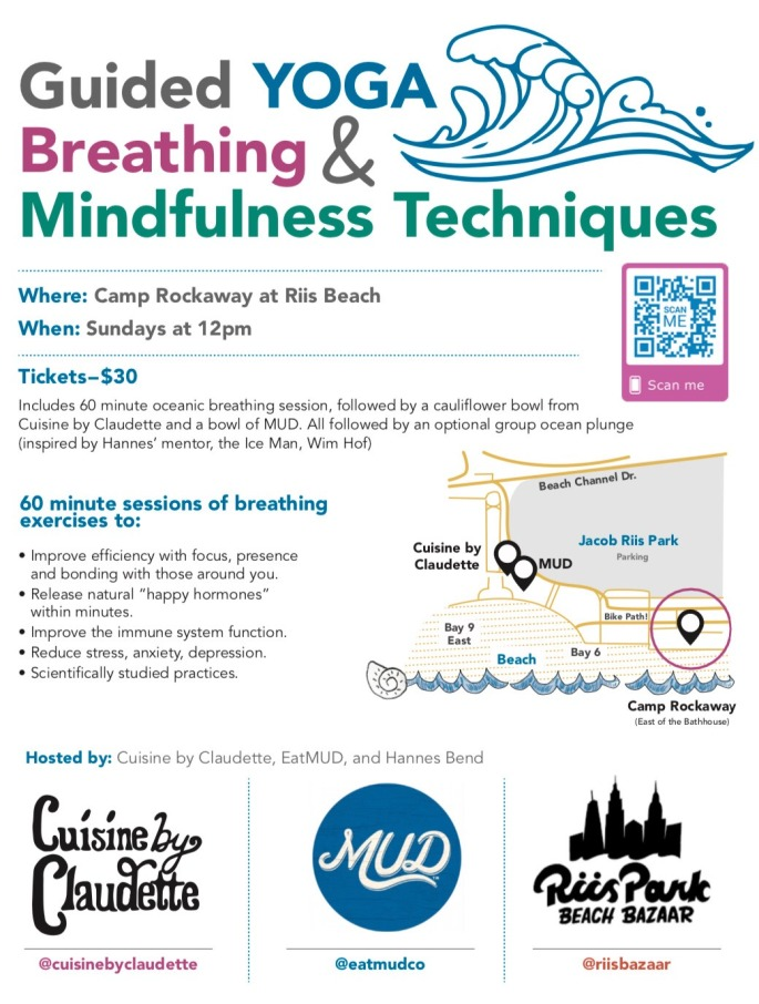 Beach Breathing and Brunch flyer July